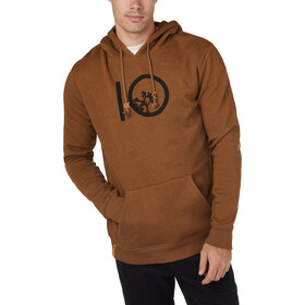 tentree Ten Hoodie Men rubber brown heather
